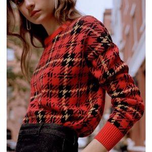 UO Andi Intarsia Knit Crew Neck Sweater